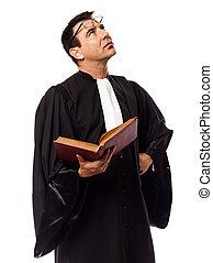 lawyer man thinking portrait
