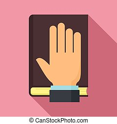 Lawyer oath icon. Flat illustration of lawyer oath vector icon for web design