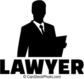 Lawyer silhouette