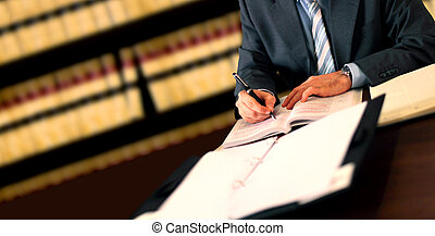 Lawyer working