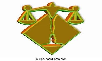 Lawyer symbol spinning
