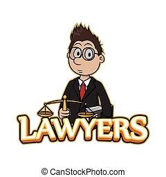 lawyers banner illustration design