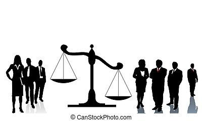 Lawyers teams trial
