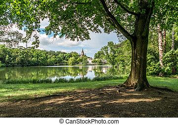 Laxenburg Castle gardens near Vienna, Austria