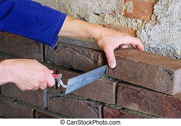 lay a brick wall