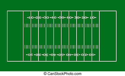 football field - lay-out of an American football field