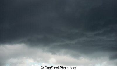 Layer of Slate Gray Clouds Drifting in the Sky - Ominous ...