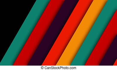 Layer Retro Colorful Transition. 5 pack