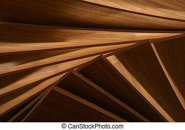 layered artificial wood panels with light