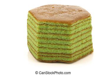 "layered, bolo, chamado, ""spekkoek"""