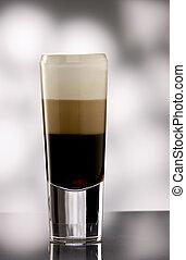 Layered coffee long drink.