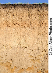Layered cut of soil - A cut of soil with several layers...
