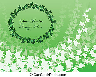 Layered ivy background - Ivy frame and background...