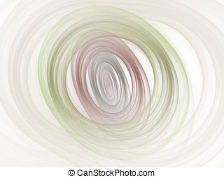 Layered Ovals Abstract - Circular and oval layers of soft...