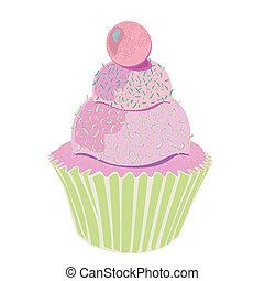 Layered Pink Cupcake