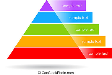 Layered pyramid vector illustration