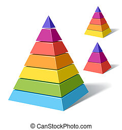 Layered pyramids - Vector illustration of layered pyramids