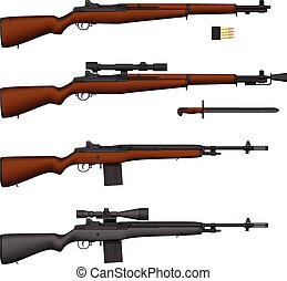 Rifle - Layered vector illustration of isolated Rifle.