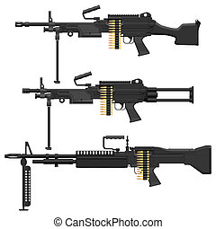 Machine Gun - Layered vector illustration of Machine Gun.