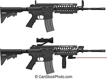 Machine Gun - Layered Vector Illustration Of Machine Gun.