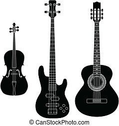 String Instruments - Layered vector illustration of ollected...