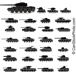 Layered vector illustration of Russia Tanks which mainly be used in War World II.