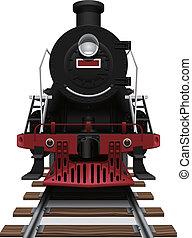 steam locomotive - Layered vector illustration of steam...