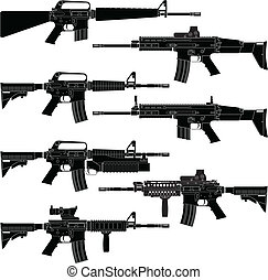 Carbines - Layered vector illutration of collected American...