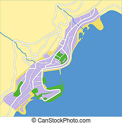 Map monaco Vector Clipart Royalty Free April 2018 260 Map monaco