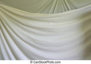 layered white draped background cloth