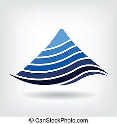 Layering mountain vector icon, Abstract concept of ...
