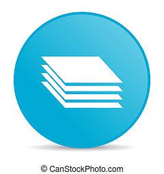 layers blue circle web glossy icon