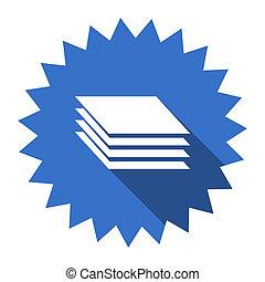 layers blue flat icon