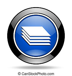 layers blue glossy icon