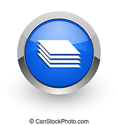 layers blue glossy web icon
