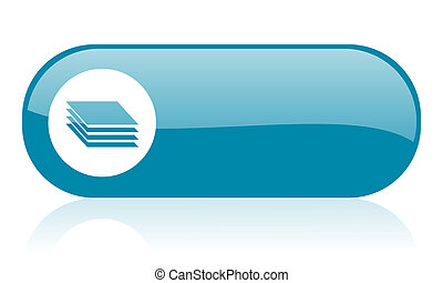 layers blue web glossy icon