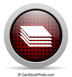 layers glossy icon