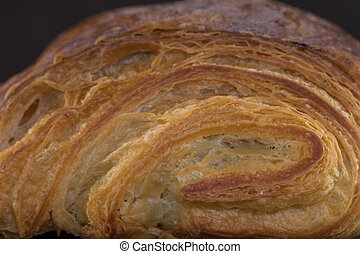 Layers of Croissant Pastry