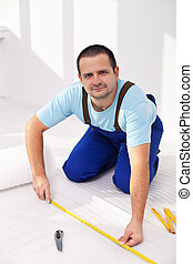 Laying the flooring at home