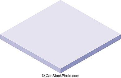 Laying tile icon, isometric style - Laying tile icon. ...