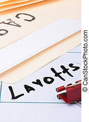 Layoffs - The information on a calendar about layoffs with...