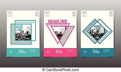 Layout Design Template, Cover Book, Abstact Background