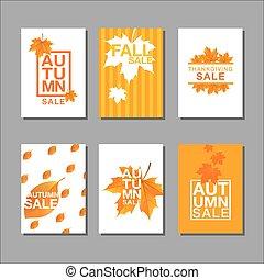 layout design, Thanksgiving, autumn, sale, abstact ...