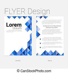 Layout flyer template modern design
