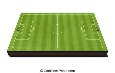 Layout football field isolated on white