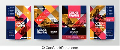 layout, mall, utrymme, affisch, nymodig, täcka, kollektion, flygare, design, bakgrund, foto, broschyr