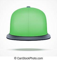 Layout of color rap cap.
