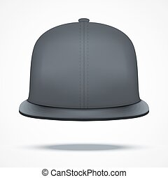 Layout of Male black rap cap.