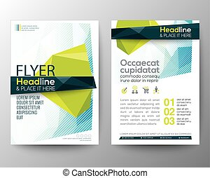 layout, polygon, affisch, abstrakt, bakgrund, vektor, design, låg, flygare, broschyr, mall