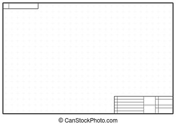 Vertical layout in blueprint style with marks vertical vector layout template in blueprint style with marks malvernweather Choice Image